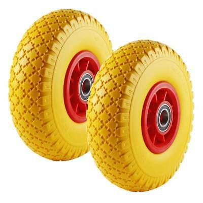 2x Full Rubber Wheel Spare Tire 260mm Barrow 3.00-4 Puncture-Proof