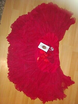ANGELS 👼🏻 FACE TUTU Red Girl Party Skirt Occasion Bnwt Age 10-12 Years
