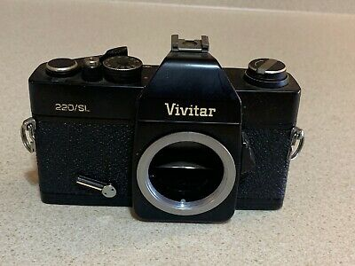 Vintage Vivitar 220/SL 35mm SLR Film Camera For Parts Only