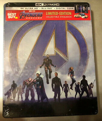 Avengers: Endgame ( Blu-ray, 4K ,and Digital 2019 )Limited Edition Steel Book