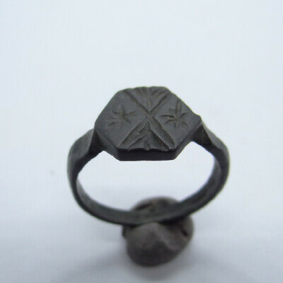 Medieval Ancient Artifact Bronze Small Ring