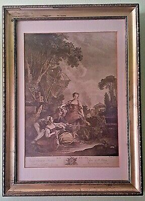 Late 18th Century French Engraving Jacques Firmin Beauvarlet 1731-1797 Le Peche