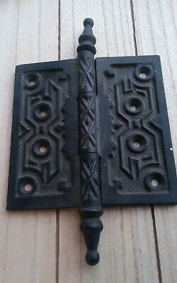 Antique Vintage Cast Iron 5x5 Door Gate Steeple Point Hinge LRG Hardware HEAVY