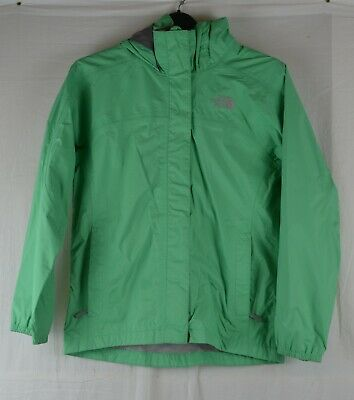 THE NORTH FACE Girls Green M Age 10/12 Hyvent Waterproof Jacket Coat Outdoor