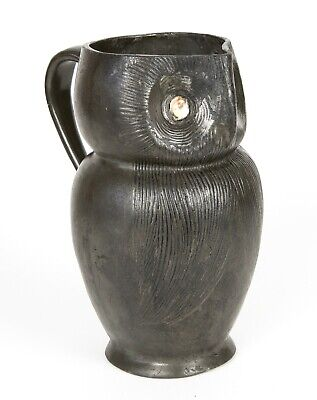 -LIBERTY & Co.- TUDRIC PEWTER OWL BIRD JUG PITCHER WITH SHELL EYES No. 035