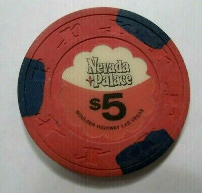 Nevada Palace Casino Las Vegas Nv Poker Chip Scarce 5.00 obsolete