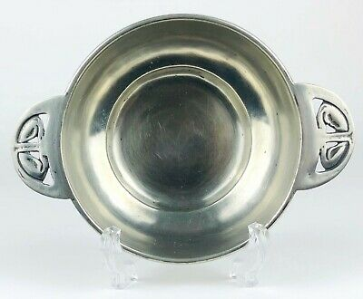 -LIBERTY & Co.- TUDRIC PEWTER TWIN HANDLED PORRINGER BOWL DISH No. 01286