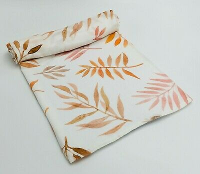 100% Organic Cotton Baby Wrap/Swaddle/Blanket - Amber- 120cm x 120cm Brand New