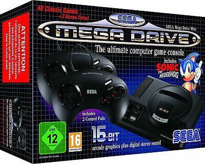 SEGA MEGA DRIVE Mini Retro Games Console With 42 Built In Games NEW / Boxed