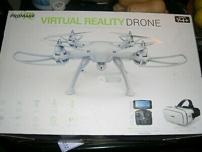 Promark P70-VR Drone White 3D FPV VR Headset Quad Copter new sealed Box