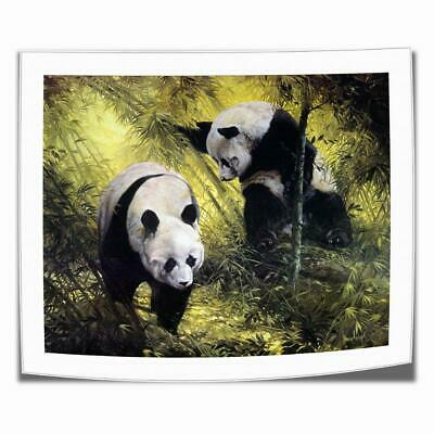 "16""x18""Panda Pair Animal Paintings HD Canvas print Home decor Wall art painting"