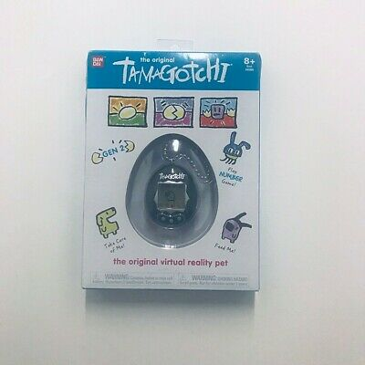 NEW The Original Tamagotchi Electronic Game Black and Silver