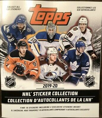 2019-20 Topps NHL Hockey Sticker Album Brand New