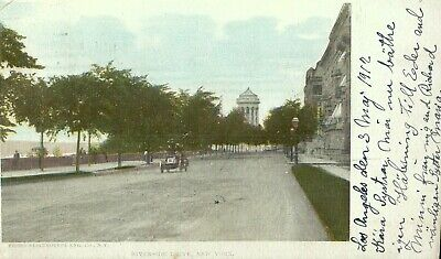 Antique 1912 Postcard Of Riverside Drive In New York City, New York