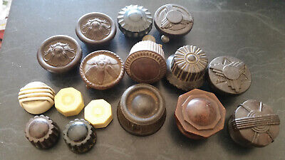 16 x vintage radio knobs