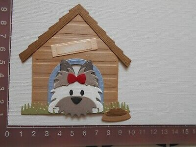 Card Making Die cuts - Dog / Puppy Kennel  Assembled  Lot 4