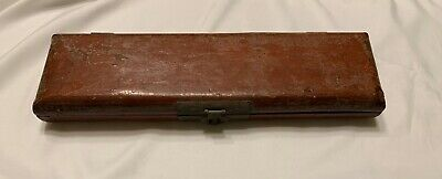 "Antique Chinese Lacquer 17"" Pig Skin/Wooden Box"