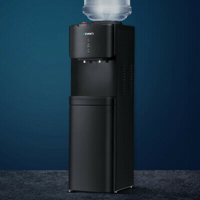 Devanti Drinking Water Cooler Dispenser Tower Bottle Stand Hot Cold Tap Office