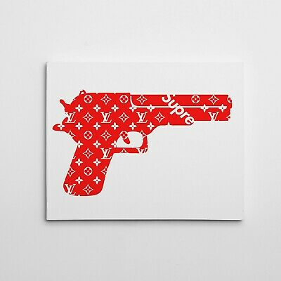 """16X20"""" Gallery Art Canvas: Supreme X Lv Gallery Contemporary Luxury Hype Print!"""