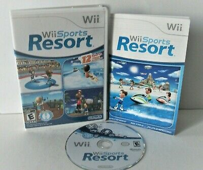 Wii Sports Resort (Nintendo Wii) Complete Good Disc Game Bowling Basketball Golf