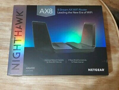Netgear Nighthawk AX8 8-Stream AX6000 WiFi Router - Brand New Sealed