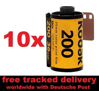 10 Pack of NEW Kodak Gold 200 ISO Color Negative Film 135/36 - FREE shipping!