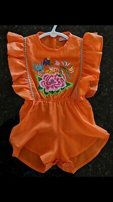Coco & Ginger Delphine playsuit orange size 2 summery and beautiful as new!!