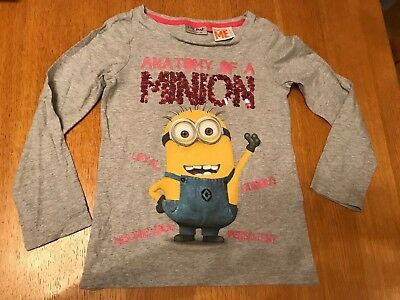 Next Girls Despicible Me Minions Long Sleeve Top Age 6 Years