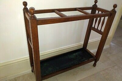 Early 1900s vintage mahogany  umbrella stick stand