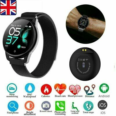 Black Bluetooth Fitness Smart Watch Sport Activity Tracker For Android iOS Gift