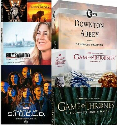 Game of Thrones Season 8 - Game of Thrones - Abbey Downton - Star Wars - DVD NEW