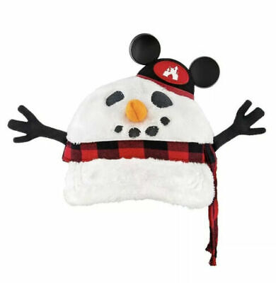 NEW Disney Parks 2019 Snowman Light Up Hat Cap Mickey Ears Adult Adjustable