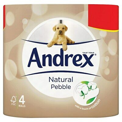 Andrex Natural Toilet Roll Tissue 4 Rolls 6 Pack