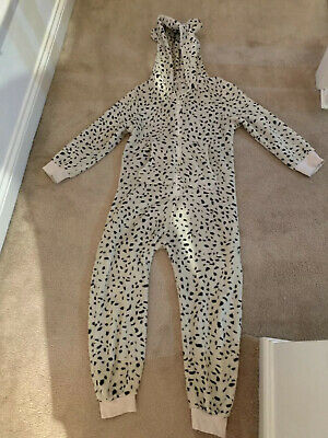 Next Sleep Lounge Nightwear Girls Leopard Print Hood Age 8-9 Super Soft