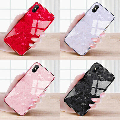 Back Cover For Huawei P30 P20 P10 P9 Plus Marble Tempered Glass Hard Phone Case