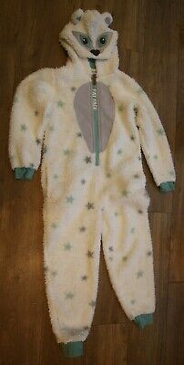 Girl's Fat Face all-in-one sleepsuit Snow Leopard age 10/11 sparkly