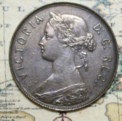 1880 NEWFOUNDLAND LARGE ONE CENT COIN - lot 1OO - HIGH GRADE
