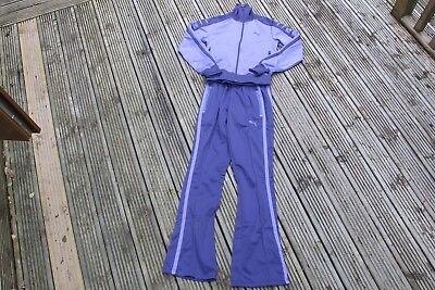 Puma Womens TRACKSUIT TOP BOTTOMS   Casual PURPLE   UK 8/ 10  SMALL LADIES POLY