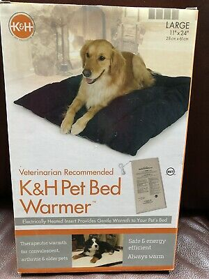 """K & H Pet Bed Warmer Large 11"""" X 24"""" Electrically Heated Insert"""