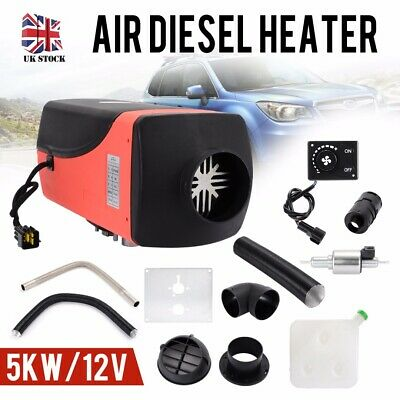 12V Air Diesel Heater 5KW 5000W 15L Tank Rotary Switch For Truck Caravan UK Gift