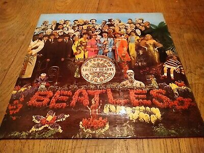 THE BEATLES SGT PEPPERS LONELY HEARTS CLUB BAND  LP RECORD STEREO parlophone
