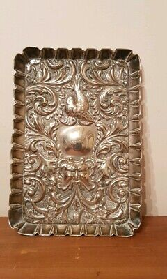 Ornate Old Silver Plated Tray Makers Mark