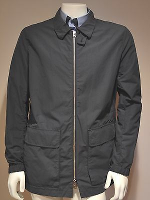 NWT $395 Theory Lightweight Cotton Blend Slim Fit Jacket in Navy