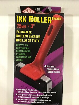 Lino Roller Hard Rubber Ink Paint Roller Block Printing Tool 75mm New