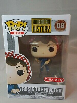 Funko Pop American History Rosie The Riveter Icons Target Exclusive  Brand New