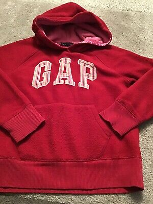 Girls Hooded Top(Gap) Red Age 8/9 Yrs Vgc