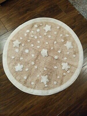 Mothercare Star And Polka Dot Circle Rug. Perfect For Babies Nursery.
