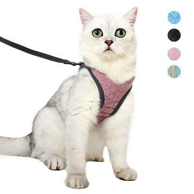 Cat Harness and Leash Set Ultra-Light Kitten Collar Soft M, pink