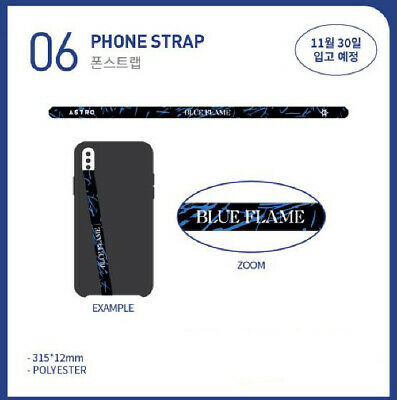 ASTRO 6th Mini Album BLUE FLAME Concept Zone OFFICIAL GOODS PHONE STRAP SEALED