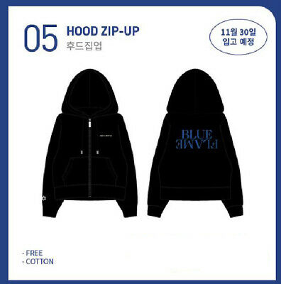 ASTRO 6th Mini Album BLUE FLAME Concept Zone OFFICIAL GOODS HOOD ZIP-UP HOODIE